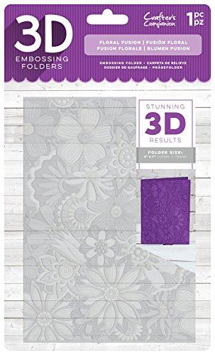 Die'sire EF5-3D-FFUS 3D - Carpeta de grabado en relieve, transparente