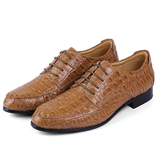 Autumn Melody Fashion British Style Genuine Leather Large Size Men Casual Shoes Size 13 US Light Brown