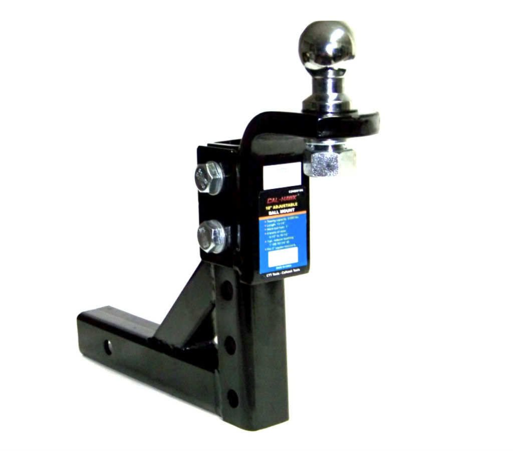 GHP Heavy Duty Steel Construction 10'' Adjustable Trailer Drop for 2-5/16'' Hitch Ball