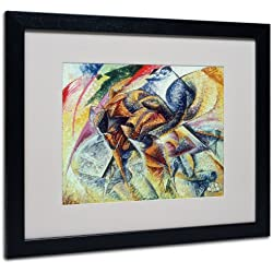 Trademark Fine Art Dynamism of a Cyclist 1913 Artwork by Umberto Boccioni, Black Frame, 16 by 20-Inch