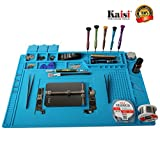 Soldering Mat Phone Repair Mat Maintenance Station Magnetic Heat Insulation Silicone Mat Maintenance Platform for Phone Repair, Computer Repair and Other Devices Repair by Kaisi S-160