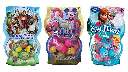 Disney Candy Filled Easter Egg Hunt Assortment Featuring Frozen, Avengers and Other Disney Characters - 48 Eggs ()