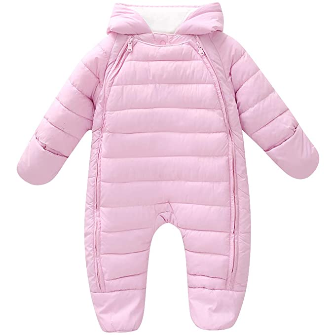 Walking Dress Autumn Winter Pink Girls Clothes Cotton-Padded Warm Soft Infant