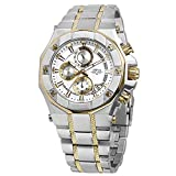 Daniel Steiger Phantom RX Two-Tone Steel & Gold Luxury Men's Chronograph Watch - Premium Grade Stainless Steel - 50M Water Resistant - Chronograph Movement With Date Calendar - Multi-Layered Dial