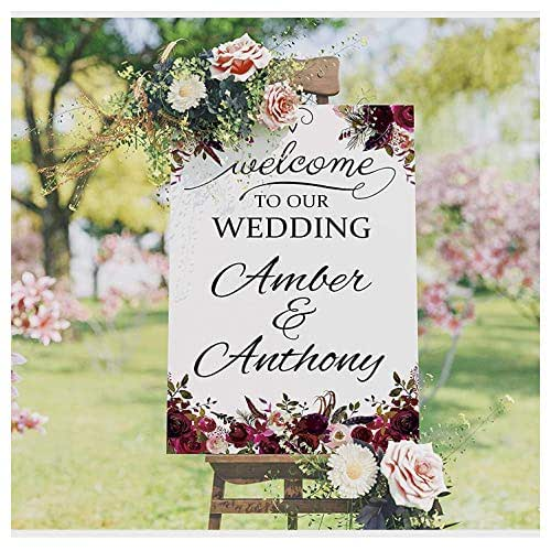 Amazon.com: Roses Themed Wedding Poster, Wedding Welcome