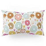 Society6 Donut Love Pillow Sham King (20'' x 36'') Set of 2