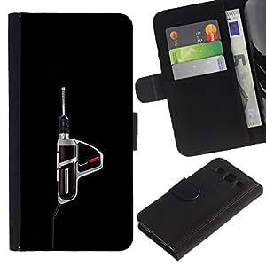 ZCell / Samsung Galaxy S3 III I9300 / Power Tool Drill Black Manly Tool / Caso Shell Armor Funda Case Cover Wallet / Poder Herramienta Taladro Ne