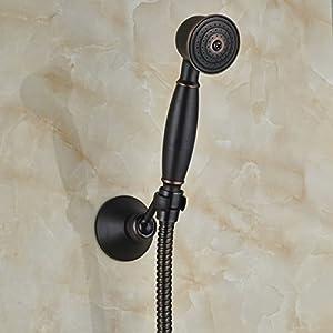 well-wreapped Rozin Handheld Showerhead + Shower Hose + Shower Holder Oil Rubbed Bronze