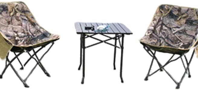 TWW Juego De Mesa Y Silla Plegables para Exteriores, Silla De Playa para Acampar con Barbacoa Portátil para Automóvil, Silla De Playa para Camuflaje De Pesca: Amazon.es: Hogar