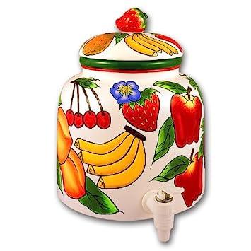 Cerámica frutas cocina dispensador de agua para chucrut