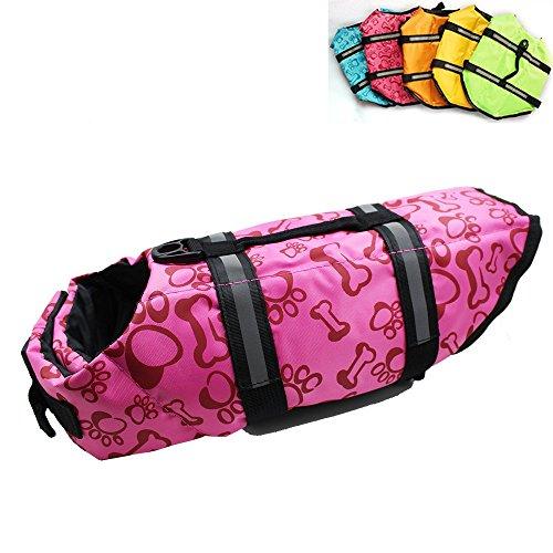 Snik-S Dog Life Jacket- Preserver with Reflective Stripes and Adjustable Belt, Pet Swimming Jacket for Short Nose Dog(pug,Bulldog,poodle) by Snik-S