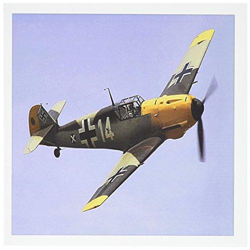 - 3dRose Greeting Cards, German Ww Ii Messerschmitt Airplane, Set of 6 (gc_100333_1)