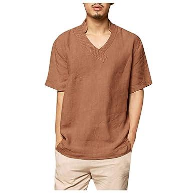 ♞xinxinyu Camisas de hombre Mangas cortas blancas Cuadros camisas ...