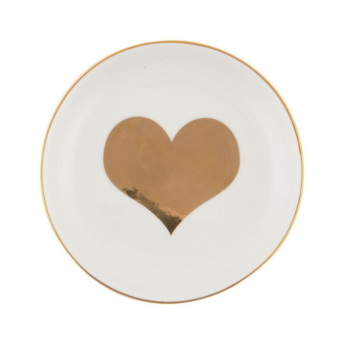 Sass und Belle gold Herz Schmuckkästchen Gericht RJB Stone