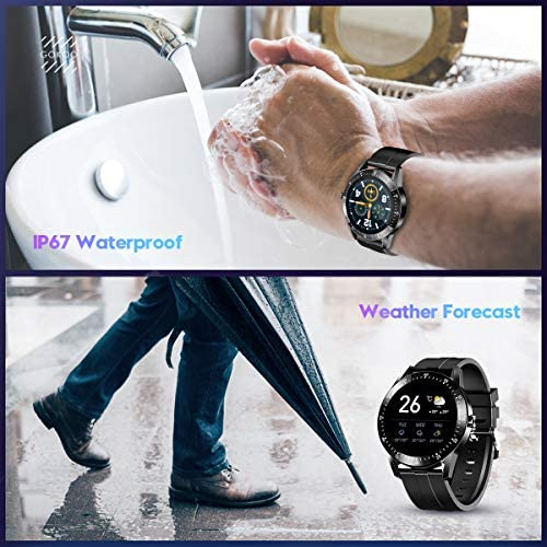 GOKOO Smart Watch Men, Smart Watches Fitness Tracker Mens with Blood Pressure Monitor Heart Rate Sleep Compatible with iOS and Android Phones Waterproof Pedometer Calorie Counter Running 7