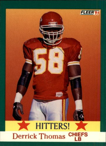 (1991 Fleer Football Card #400 Derrick Thomas Near)