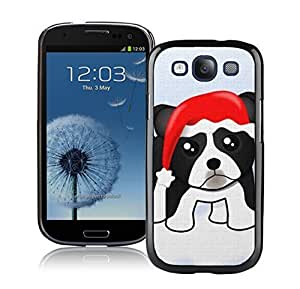 Personalization Black Cute Christmas Dog Black TPU Phone Case For Samsung Galaxy S3,Samsung I9300 Cases