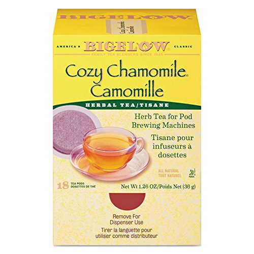 Bigelow Cozy Chamomile Herbal Tea Pods, 1.90 oz, 18/Box