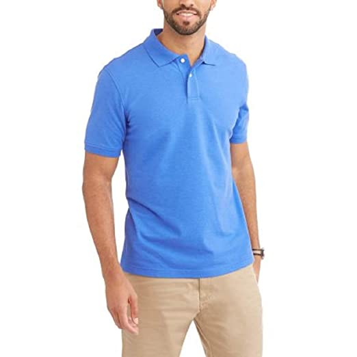 dc47de88297 Image Unavailable. Image not available for. Color  George Mens Patterned  No-Roll Collar Short Sleeve Polo Shirt ...