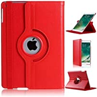 GVTECH Funda para iPad Mini 4, Funda giratoria de 360 Grados para el Soporte con característica Auto Sleep/Wake para Apple iPad Mini 4 (Rojo)