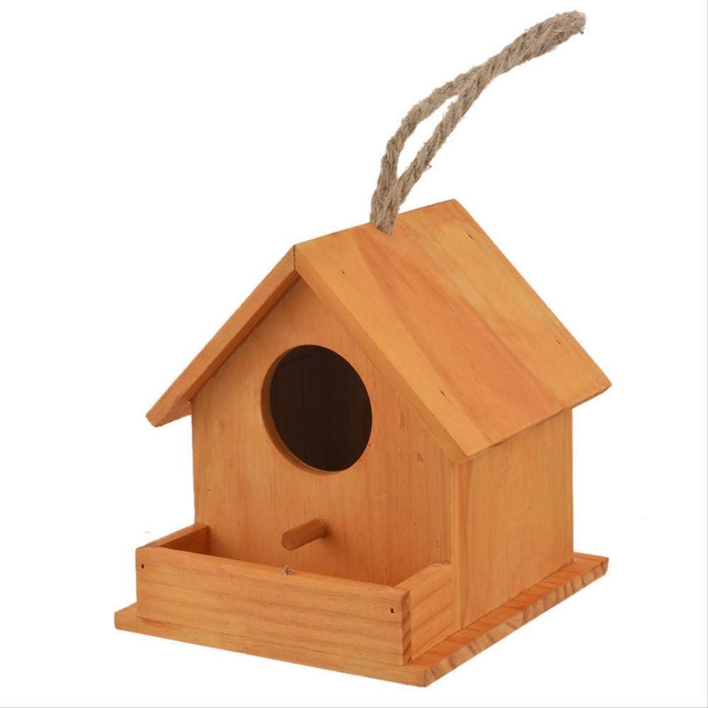 XYBB Nidos para Pajaros Bird House Wood Bird House Nido Loro Cría Cajas Decorativas Hamster Nido Hogar Lindo Sin Mascota Accesorios Madera Loro Jaulas De Aves Ventana Redonda
