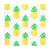 80count Party Napkins, Beverage &Cocktail Napkins,Bulk,3-Ply, Pack of 80(4 Packs of 20 Napkins),Decorative Paper Napkins 5x5 inch,Summer,Beach Party,Birthday,Gold Pineapple (Pineapple, 5''X5'' 80count)