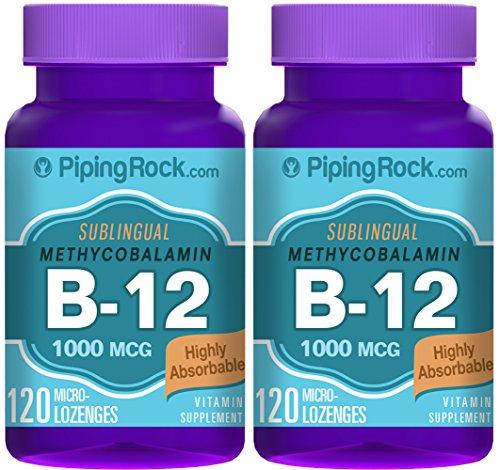 Methylcobalamin B-12 1000 mcg  2 Bottles x 120 Microlozenges