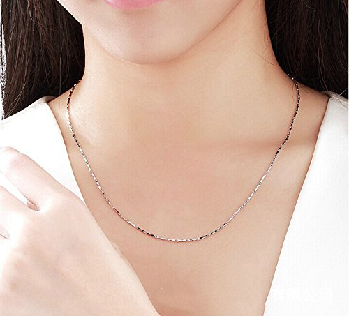 Women Lady Jewelry 925 Silver Necklace Exquisite