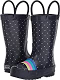OshKosh B'Gosh Girl's Rainbow Rubber Rainboot Rain Boot, Multi Color, 9 M US Toddler