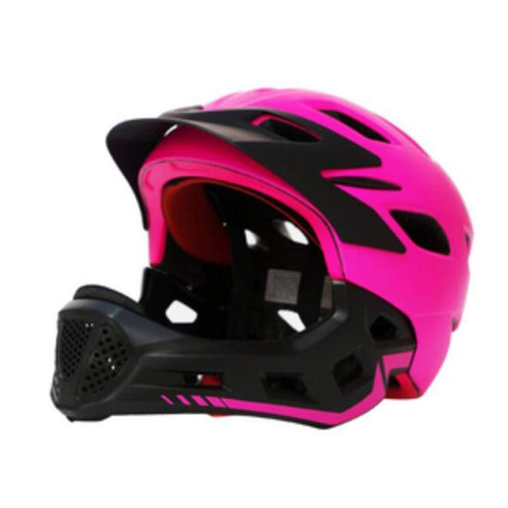 Rose  Mysida Helmets Casque Complet de vélo de Montagne pour Enfants, Casque d'équitation, Moto Hors Route, vélo, Casque de Descente, Taille 50-57 cm