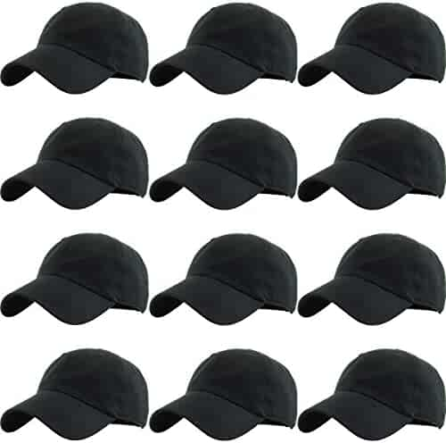 KBETHOS Classic Cotton Dad Hat Adjustable Plain Cap. Polo Style Low Profile  (Unconstructed) 97a5612f989