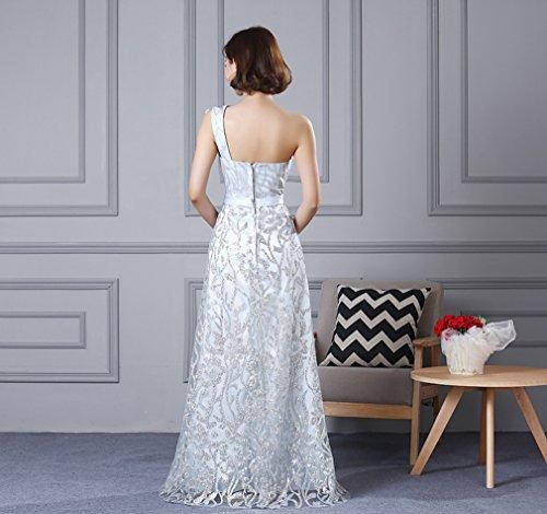 Cotylédons Women`s Robes De Robe Slim Fit Une Épaule Robe Longue