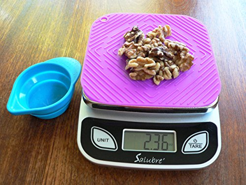 Digital Food Scale / Kitchen Scale / Postal Scale – Weigh in Pounds, Ounces, Grams - Precise Weight Scale 1g (0.04oz) to 11 lbs - Batteries Included by REM Concepts (Image #5)