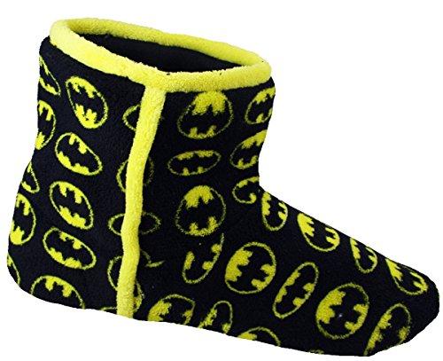 Batman Hommes Chaussons Bottines Noir Jaune Nouveauté Pantoufles Bottines
