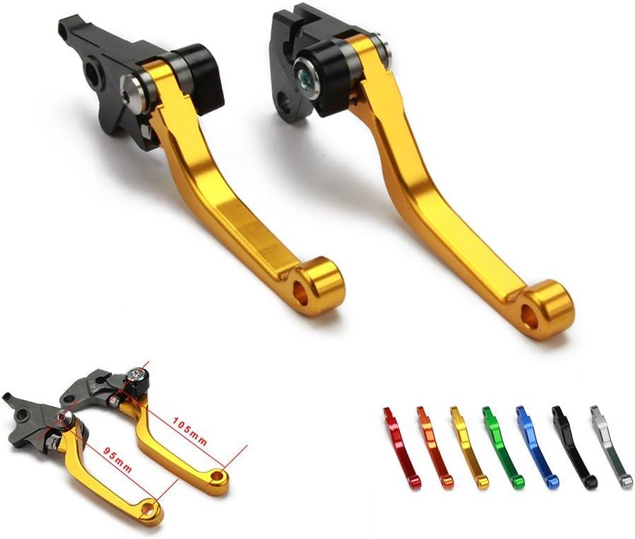 YSMOTO Billet Pivot Foldable Clutch Brake Lever Dirt Bike Levers For Suzuki DRZ400S DRZ 400S 400SM DRZ400SM 00-17 DR250R 250R 96-00 Motorcycle Gold