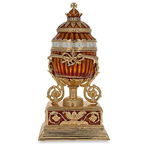 - BestPysanky 1899 Bouquet of Lilies Clock Royal Russian Egg