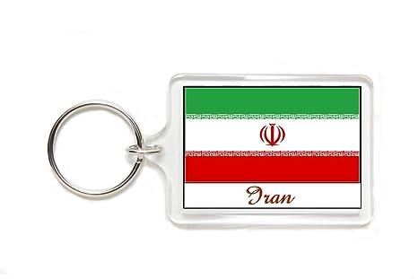 Amazon.com: Souvenir iraní Bandera de Irán acrílico Llavero ...