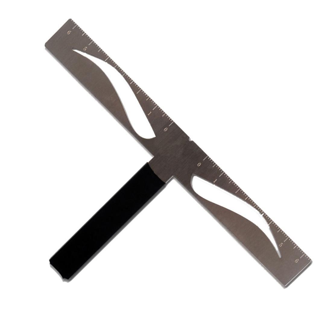Eyebrow Caliper - Iusun T-shaped Positioning Makeup Permanent Eyebrow Balance Ruler (B)