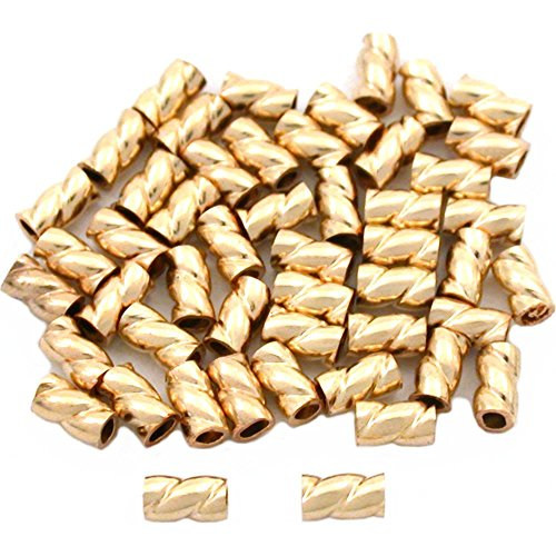 50 Gold Filled Crimp Tube Beads Jewelry Beading ()