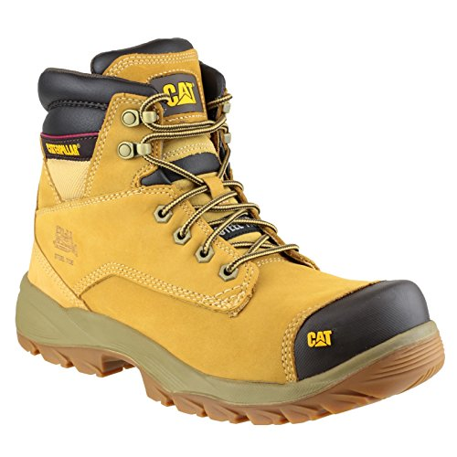 Cat Water Marrón Resistant Workwear Spiro S3 Boots Safety Steel Mens Leather wSwqx4trR