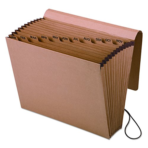 Pendaflex Index Dividers - Pendaflex Expanding Kraft File with Flap, Jan.-Dec. Index, 12 x 10, 1 per Box (K-17M-OX)