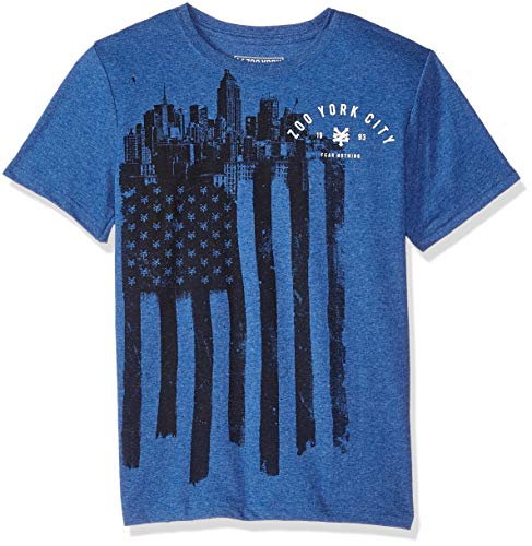 - Zoo York Boys' Big' Short Sleeve Graphic TEE, Federal Blue Heather, Medium (10/12)