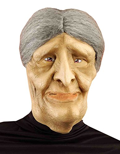 Halloween Masks For Sale (Forum Novelties Women's Old Lady Mask with Wig, Multi, One Size)