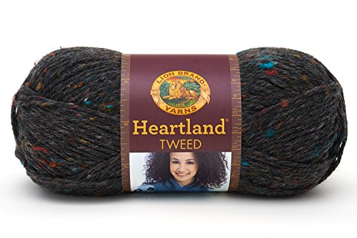 Lion Brand Yarn 136-353 Heartland Yarn, Black Canyon Tweed - Soft Tweed