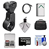Sony VCT-HM1 Handlebar Mount with 32GB Card + NP-BX1 Battery + Case + HDMI Cable + Accessory Kit for Action Cam HDR-AS100V, AS15 & AS30V Camcorders