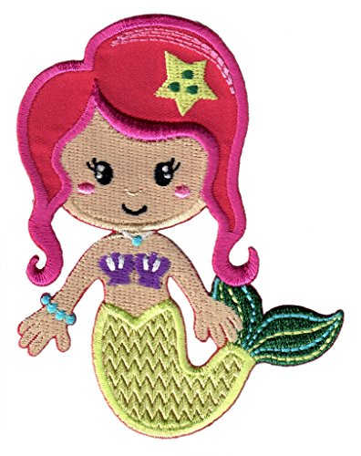 PatchMommy Iron On Patch, Mermaid - Appliques for Kids ()