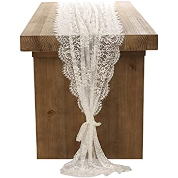Lingu0027s Moment 28x120 Inch White Lace Table Runner Fall Thanksgiving  Christmas Decor Classical Wedding Decor,