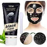 Maschera Comedone di bambù e Aloe Vera, Y.F.M Rimozione Punti Neri Viso Maschera Nera Anti-acne Purificazione Comedone Maschera Carbone Facciale Cura