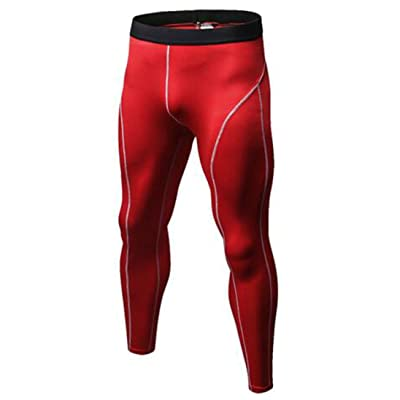 Pivaconis Mens Sport Quick Dry Moisture Wicking Training Compression Pants