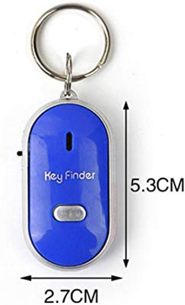BIKITIQUE LED-Lampe Schl/üsselsucher Locator Finden Sie verlorene Schl/üssel Kette Whistle Sound Control Keychain Finder